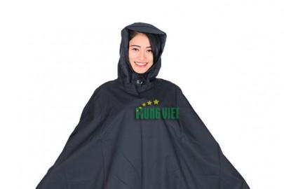 In logo quảng cáo trên áo mưa – nhất cử lưỡng tiện.