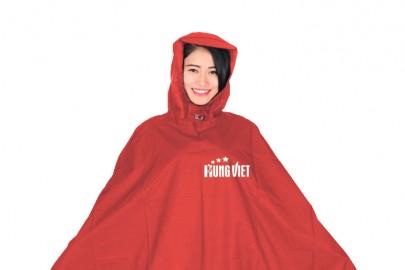Áo mưa quảng cáo vải siêu nhẹ
