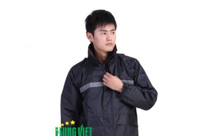Áo mưa bộ vải dù phản quang