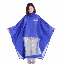 Áo mưa vải siêu nhẹ xanh lam
